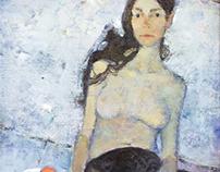 """""""Amrina"""". Oil on canvas. 110x85cm. 2015."""