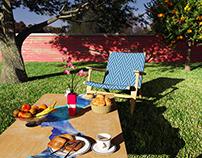 Afternoon in the garden - 3D renderings