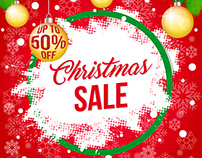 Christmas Sale Banner (Free vector file)