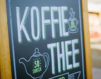 Chalkboard handlettering coffeeshop Karakter