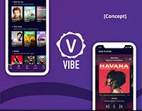 Vibe App UI Concept + Landing Page