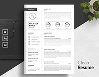 Word Resume Template / CV