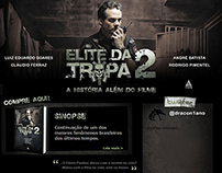 "Hotsite para livro ""Elite da Tropa 2"", da Ediouro"