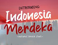 Indonesia Merdeka Brush Font