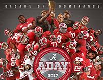 Alabama Football A-Day Poster