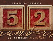 Free Vintage Wooden Box 3D Numbers