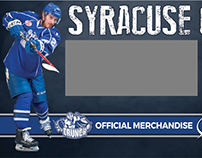 Syracuse Crunch Merchandise Wall (2nd floor)