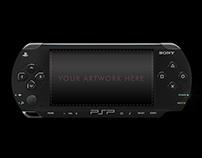 FREE PSP PlayStation Portable Mockup PSD