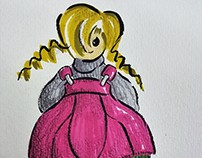 Ilustración de moda , moda infantil