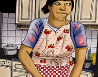 illustration   in the kitchen, 2016