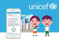Diseño y desarrollo web UNICEF
