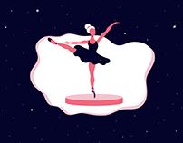 Ballet Girl Illustration