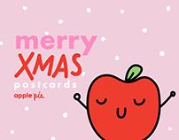 Merry Xmas postcards by ©apple pie