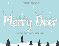 Free Merry Deer Decorative Font