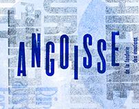 """Letterpress - """"Passagem das horas"""", Fernando Pessoa"""