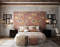 Ethnic master bedroom