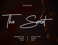 Free The Sunset Signature Font