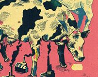Smoking Cow illustration
