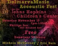 Poster design for the DelmarvaMusic Accoustic Fest