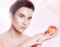 Peach scrub advertising