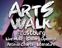 Arts Walk Frostburg Poster