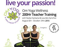 Poster, Flyer & Other Assets for Om Yoga / AYCY