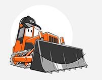 Bulldozer character for TNT