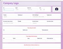CV form, responsive, modern, clean