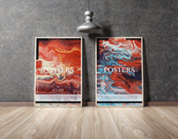 Modern Interior Posters Mockup Free