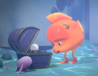Goldfish Simple Poly Theater Animation