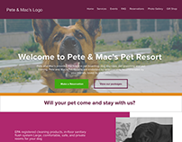 Pete& Macs Pet Boarding Facility Website Redesign