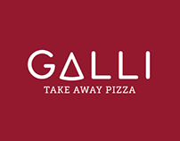 GALLI take away pizza | brand identity