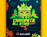 Poster Champeta All Stars Vol.3 - Bacardí