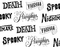 Twitch Halloween Lettering
