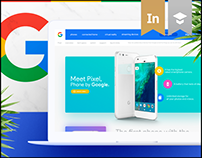 Google Pixel Landing Page Redesign Concept