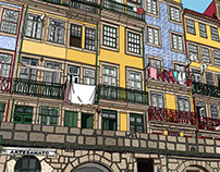 Houses of Ribeira - Porto city