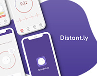 Concept UI Design for Mobile Application | Distant.ly