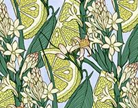 Texture limone e tuberosa