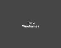 Tripz - Wireframes