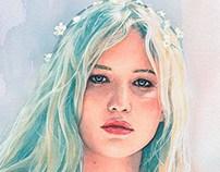 Jennifer Lawrence watercolor