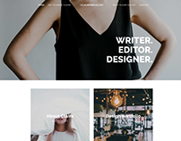 Claire Wahlen - Squarespace portfolio alternative