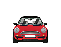My little red mini cooper