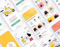 Sugary – Bakery Shop Mobile App UI