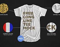 Free* Longline T-Shirt Mockup