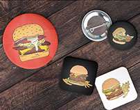 Digital Burger Illustrations