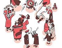 Illustration for Campus Diaries