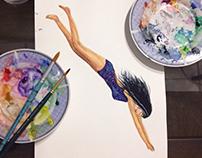 Watercolor Illustration - É Preciso Navegar