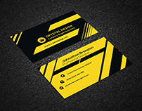 Creative Business Card [ Black & Yellow ]