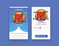 UX/UI APPLICATION :DONATE:Help Us Save the Elephants