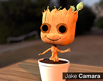 3D Model Toy - Bobblehead Groot